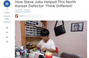 How Steve Jobs Helped This North Korean Defector 'Think Different'